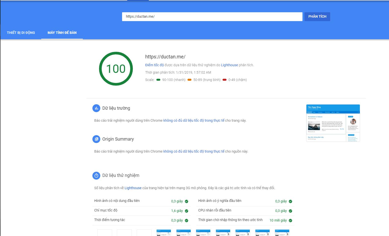 Tôi đã đạt 100 điểm PageSpeed Insights như thế nào